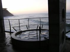 Hot tub at Esalen Institute, Big Sur.  My friend Cheri and I spent some time here...and in these tubs...amazing meditation retreat.