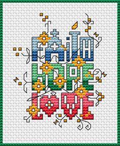 Dimensions Cross Stitch Patterns Free | chart faith hope love colors 8 dmc stitches 45 x 55 dimensions 3
