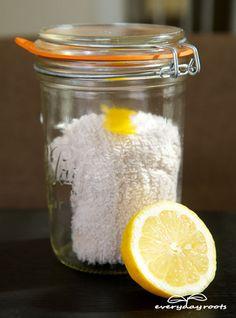 How to Make Reusable Lemon Dust Cloths