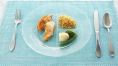1/2 plate for fruits and vegetables, 1/4 plate for lean protein and 1/4 plate for whole grains and starches