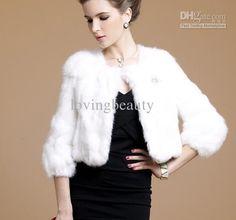 Wholesale Fur Coat - Buy Black Real Patched Rabbit Fur Coat Shawl Wrap S M L XL Orange Red Black White, $100.0 | DHgate