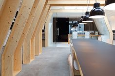 This is the office of creative studio Onesize, designed by Origins Architecture