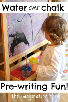 Water Painting on Coloured Chalk   -Repinned by Totetude.com