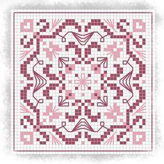 Pink Biscornu pttern charts, patterns, dreams, crossstitch, pink biscornu, roses, cross stitch, edensdreamjpg, biscornu pattern