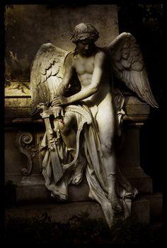 warrior, angel wings, cemetery angels, cemeteri, art, sculptur, light, angel statues, guardian angels