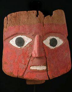Pre-Columbian Chancay burial mask from Peru