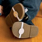 tap shoes with washers and a bit of elastic--Grace would be thrilled!