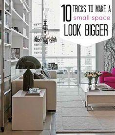 10 Tricks to Make a Small Space Look Bigger DIY