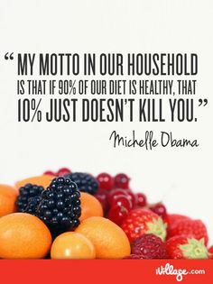 90/10 rule. Learn it, live it. Get more healthy living tips from Michelle Obama.
