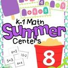 End the year with some fun math centers to review missing addends, addition and subtraction.  This set contains a popsicle game for practicing miss...