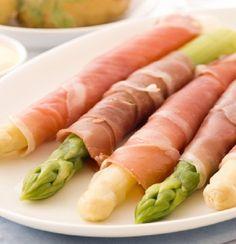 Ham & Asparagus Rolls