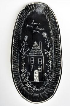 """""""Home Again"""" Folk Series Plate"""