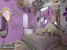 forest of enchantment love this room.. but Id add different colors I dont like the gray look..