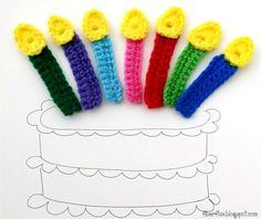 Free Crochet Pattern...Birthday Candle Applique!
