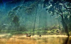 Situ Gunung Natural Park,  part of the intensive use zone of Gunung Gede National Park Pangrango, located in Sukabumi, West Java, Indonesia.  Photography by Ayie Pernata Sari.
