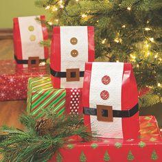 Santa favor bags