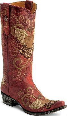 Rock red cowboy boots michele_morgan