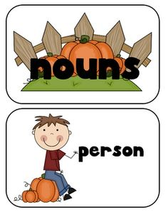 Sort all those People, Places and Things with this cute Fall themed sort! Your students will have a lot of fun with this cute freebie!...