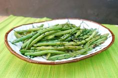Asian Style Roasted Green Beans