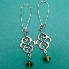 CELTIC SWIRL earrings on French wires. $8.00.  Oh how I love these!  :)
