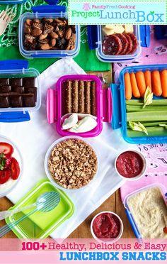 Project LunchBox Snack Ideas | FamilyFreshCooking.com