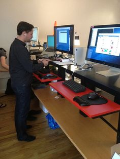 Been doing a #standingdesk since last fall and love it. No more back pain! Here's an IKEA DIY options for $22.