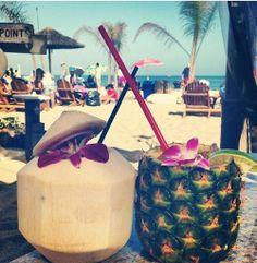 beaches, coconut, pineappl, summer drinks, summer beach, summertime drinks, cocktail, beach drinks, cold drinks