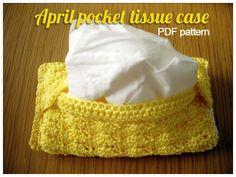 Crochet Pocket Tissue Holder Pattern, Pocket Tissue Holder