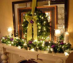 holiday, purple christmas, christmas fireplace, christmas decorations, christma decor, mantle decorating, christmas decorating ideas, christmas mantles, christmas mantels