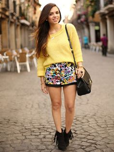 How to style shorts for fall!