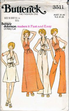 Boho sewing 1970s pattern