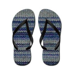 great image of a knitted wool jumper or Flip Flops