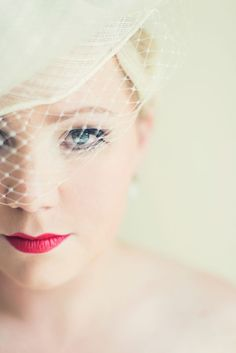 A perfect red pout for the #wedding day