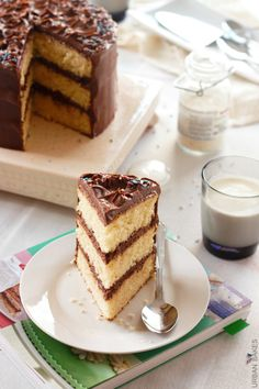 Classic Yellow Cake with Chocolate Frosting | URBAN BAKES for #CookbooksandCalphalon Gorgeous!