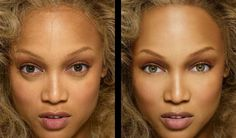 Before and after photoshop of celebrities