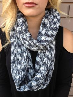 Blue Moon Knit Infinity Scarf