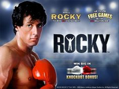 Rocky slot game is a great game by Playtech.  Punch your way to free spins and cash prizes with the most popular boxer of all times.  http://www.onlineslotgames4u.com/play/rocky-slot-game/