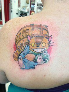 My neighbor totoro tattoo by kim graziano  love the lil totoros!
