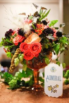 Coral-Blackberry-Wheat-Centerpiece