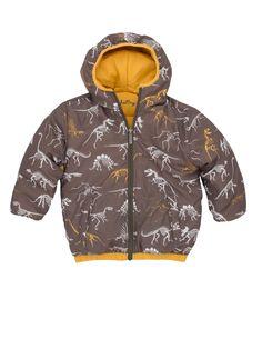 Manteau matelassé réversible pour garçon - Squelettes de dinosaures - Vêtements d'extérieur - Garçons   Hatley Canada 79$