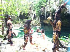 Mayan wedding in the Cenote area in Riviera Maya.