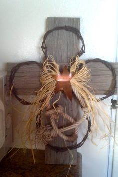 Barbed+Wire+Cross+by+AceHighCrafts+on+Etsy,+$40.00