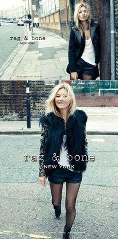 Rag & Bone - Kate Moss photographed by Craig McDean