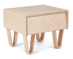 modernica, bentwood bedsid, case studies, legs, leg nightstand, bent leg, bedside tables, furnitur, design