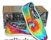 Tie Dye TOMS Shoes Womens Sizes hand dyed by One by onegreatthing. $100.00, via Etsy. Want.