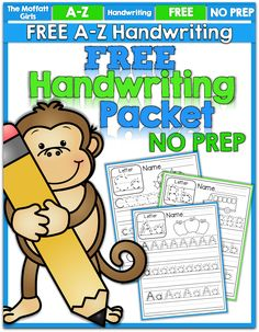 FREEBIE: A-Z Handwriting Practice Pages!
