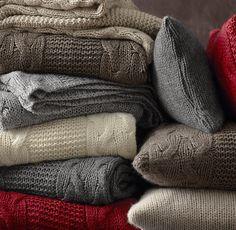 Italian Wool & Alpaca Cable Knit Throws - wol