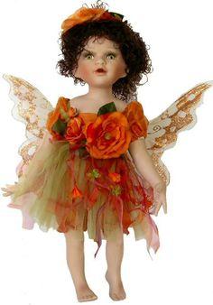 Fairy Porcelain Dolls-Fairy Dolls-Angel Porcelain Dolls-FAIRY Porcelain Doll By Cathay Collection-Gwen