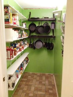 Have an expanding collection of cast iron pots? This sturdy, oil-rubbed bronze pot rack can help you easily store all of your cast iron! #storage #organization at Home Depot