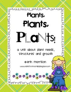This unit includes everything you need to teach your students about plant needs, structures, and growth! 25 pages of activities are included.